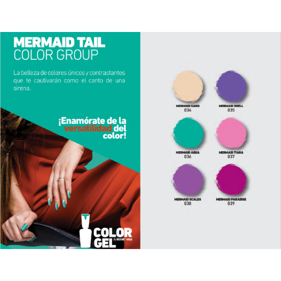 MERMAID TAIL COLOR GROUP 15 ML.