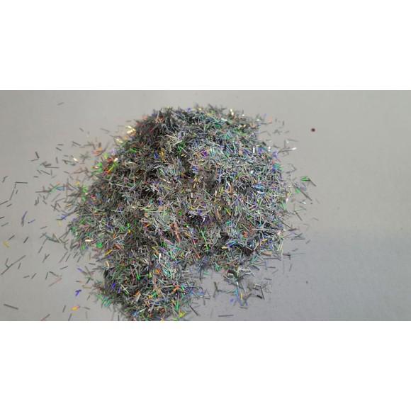 Glitter pelo de Gato prata furta cor